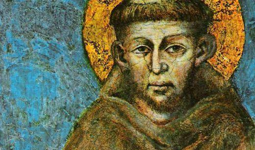 Franziskus von Assisi - Fresco aus der Unterkirche der Basilika San Francesco in Assisi