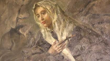 Zeitgenössisches Gemälde der heiligen Klara aus dem Kloster San Damiano