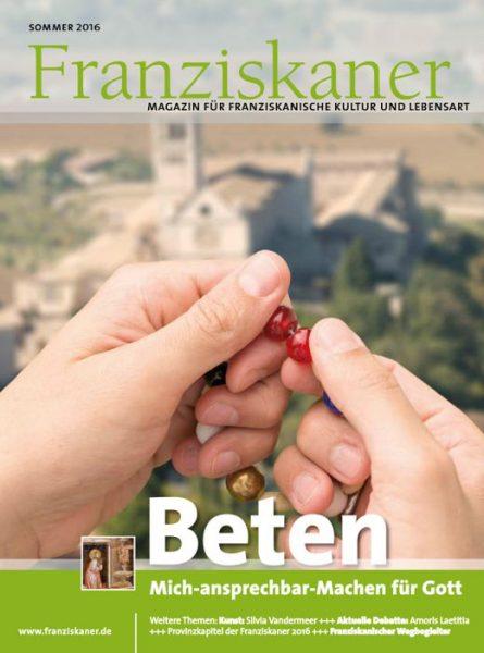 Titel der Zeitschrift Franziskaner, Sommer 2016