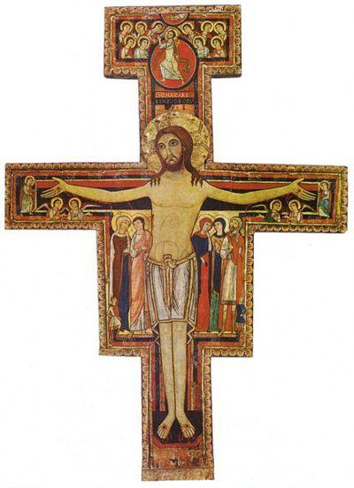Die Kreuzikone des Kirchleins von San Damiano / Assisi