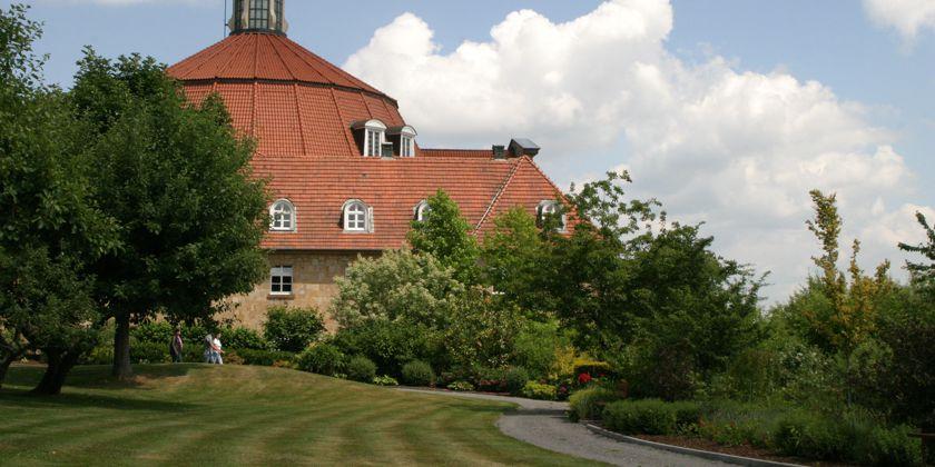 Kloster Ohrbeck, Gartenansicht auf den Konvent