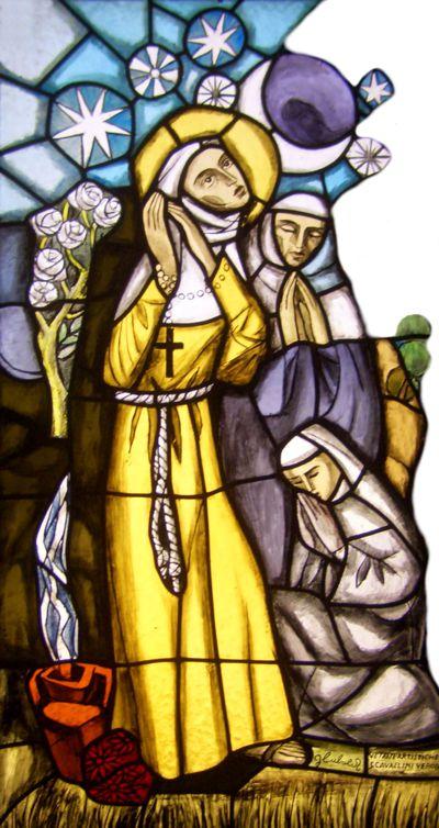 Klara, Kunstglasfenster