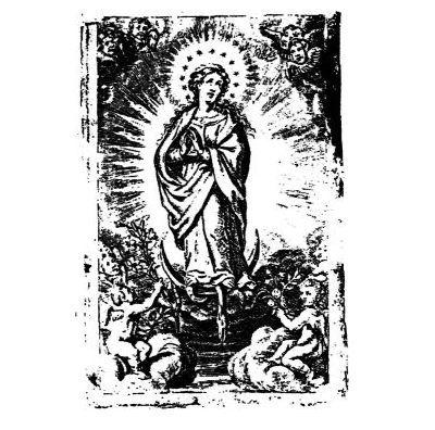 Kopie des Gnadenbildes. Das Original wurde im 17. Jahrundert von Dorsten nach Neviges gebracht, wo es am heutigen Wallfahrtsort in der Marienkappelle aufbewahrt wird.