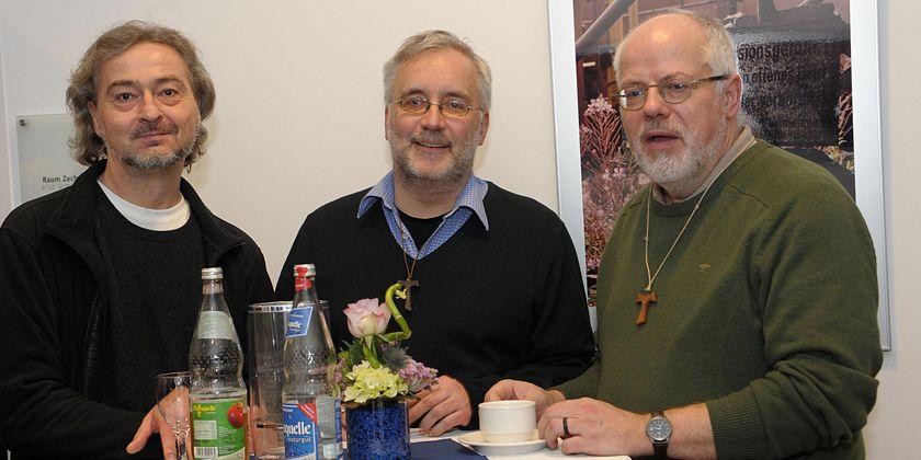 Die Brüder der Gemeinschaft in Essen: Artur Spallek, Georg Scholles, Hermann-Josef Schlepütz.
