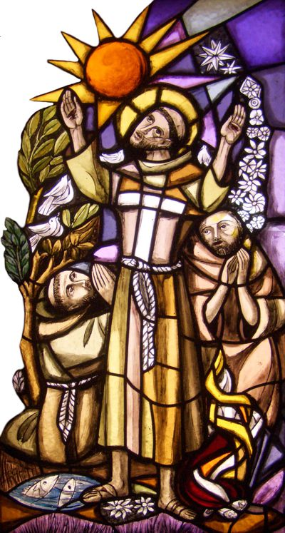 Franziskus, Kunstglasfenster