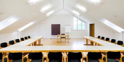 Blick in den Seminarraum; Forum genannt.