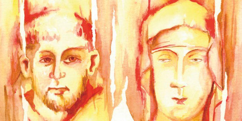 Gemälde der beiden Ordensgründer Franziskus und Klara von Assisi, an deren Spiritualität das Exerzitienhaus besonders orientiert ist. (Gemälde von Br. Michael Blasek OFM)