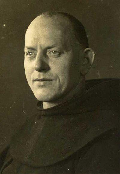 Ein zeitgenössisches Foto des im Rufe der Heiligkeit verstorbenen Franziskaners, Bruder Firminus Wickenhäuser.