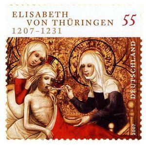 Im Jahr 2007 veröffentlichte die Deutsche Bundespost eine Sondermarke zur Ehren der heiligen Elisabeth