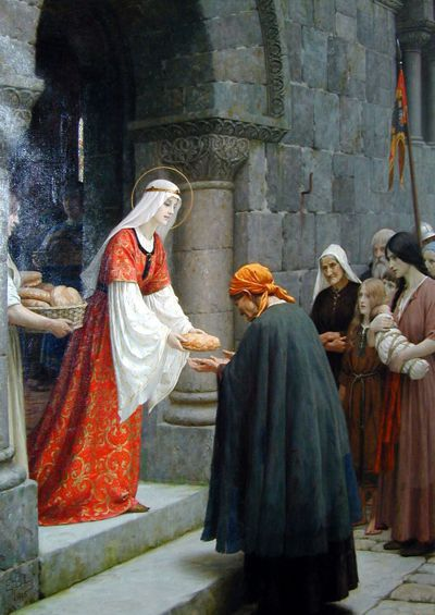 "Bild ""The Charity of St. Elizabeth"", Edmund Blair Leighton (1895)"