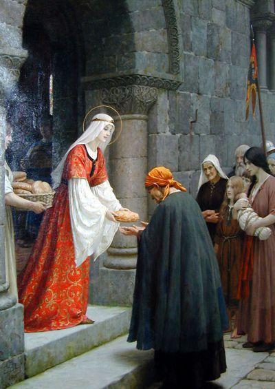 "Bild ""The Charity of St. Elizabeth"", Edmund Blair Leighton (1895)"