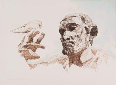 Franziskus von Assisi mit dem Friedenssymbol einer Taube. Die Organisation Franciscans International fühlt sich den Idealen des Ordensgründers und seiner Sorge für die Armen auf das engste verbunden. Bildquelle: OFMorg.
