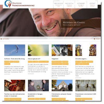 Screenshot der neuen Webseite