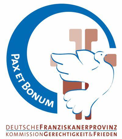 Logo Gerechtigkeit, Frieden, Bewahrung der Schöpfung der Deutschen Franziskanerprovinz