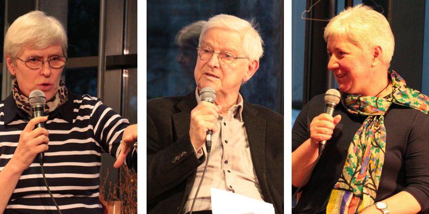 Im Gespräch: Sr. Monika, Joachim Jauer und Katharina Köhnlein.