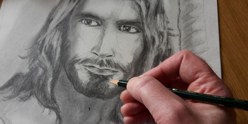 Gott wurde Mensch, damit wir wirklich Menschen werden. (Zeichnung von Bruder Gabriel Gnägy)