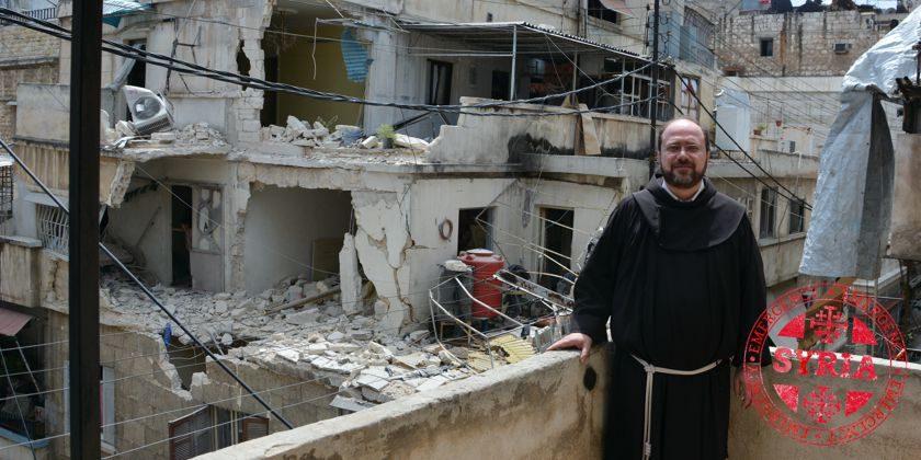 Von Raketeneinschlägen, Granaten und Schüssen zermürbt: Die direkte Nachbarschaft des Franziskanerklosters