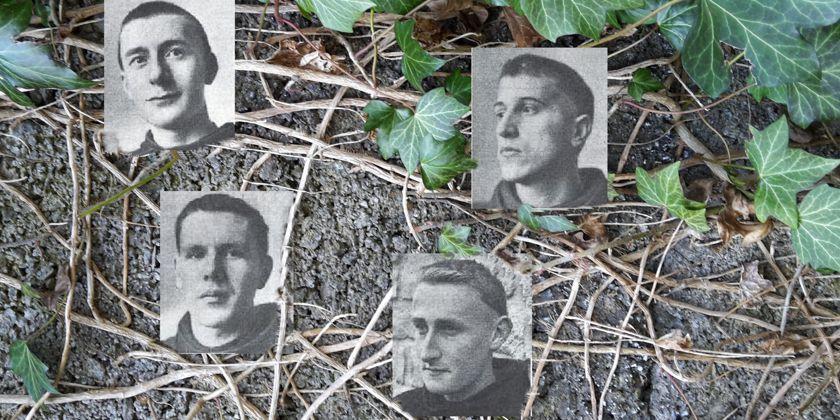 Fanden im Konzentrationslager den Tod; Die französichen Franziskaner Gerard Martin Cendrier, Louis Paraire, Xavier Boucher und Roger Le Ber.