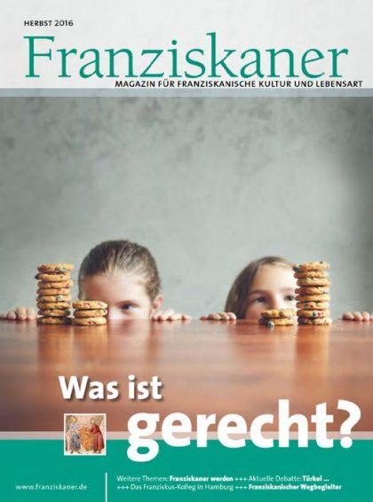 Titel der Zeitschrift Franziskaner, Herbst 2016 Klick auf Bild startet Lesemodus
