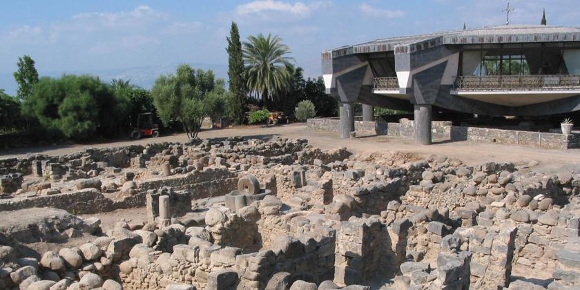 Der Heimatort von Petrus: Ausgrabungen und Museum am See Gennesaret. Bild von der Kustodie des Heiligen Landes
