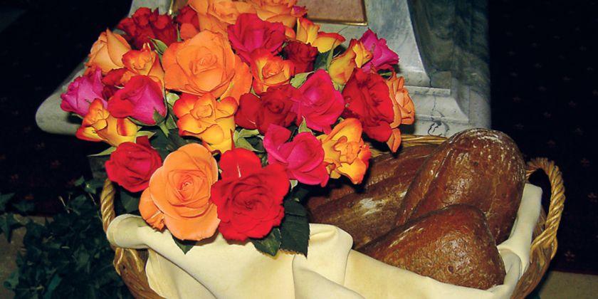Zeichen der Barmherzigkeit: Brot und Rosen