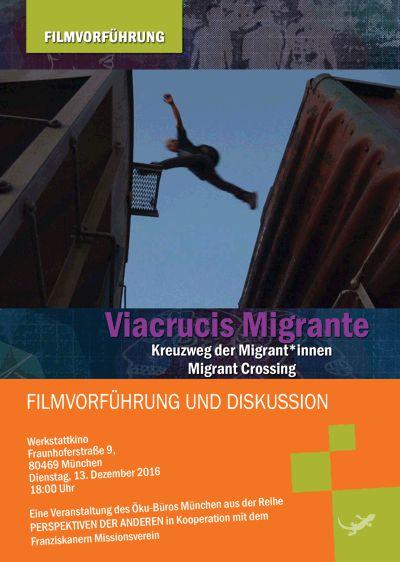 Viacrucis Migrante - Der Zug ist da. Bild von Hauke Lorenz.
