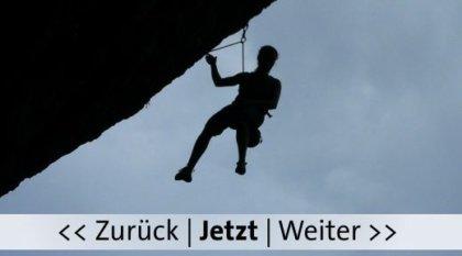 Ein Bergsteiger an der Steilwand. Bild von Marc Tollas, pixelio.de